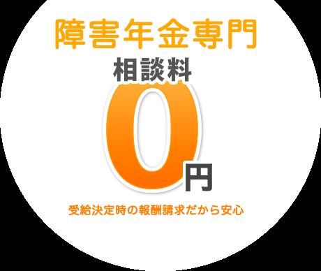 障害年金申請専門 相談料0円